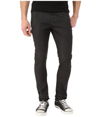 G Star Revend Super Slim In Black Pintt Stretch Denim 3D Dark Aged Black Pintt Stretch Denim 3D Dark Aged Men's Jeans