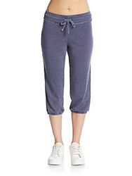 Andrew Marc New York Cropped Sweatpants Navy