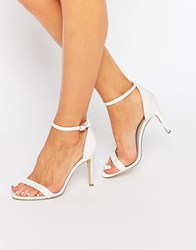 New Look Lace Barely There Heeled Sandal Cream