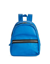 Kensie Faux Leather Backpack True Blue