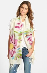 Women's La Fiorentina Floral Wool Scarf