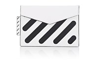 Off White C O Virgil Abloh Small Leather Pouch White
