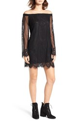 Socialite Women's Lace Off The Shoulder Shift Dress