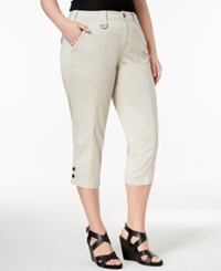 Style And Co Plus Size Capri Cargo Pants Only At Macy's Stonewall