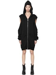 Unravel Zip Up Cut Out Cotton Hooded Sweatshirt