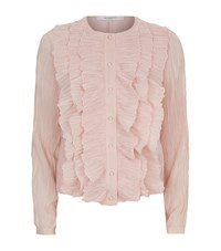 Givenchy Ruffle Cardigan Female Pink