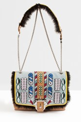 Paula Cademartori Alice Fur Trim Shoulder Bag Multi