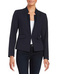 Ellen Tracy Fitted Blazer Navy