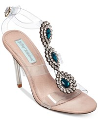 Betsey Johnson Blue By Sylvi Sandals Women's Shoes Lucite Turquoise