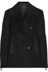 Belstaff Woman Hawthorne Double Breasted Wool And Cashmere Blend Coat Black