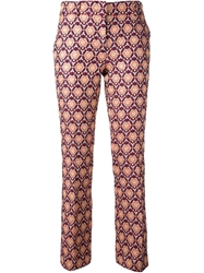 L'autre Chose Embossed Trousers Pink And Purple