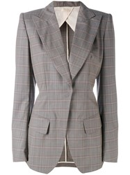 Wunderkind Checked Blazer Women Cotton Polyamide Cupro Virgin Wool 36 Grey