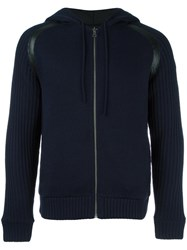 Bikkembergs Reversible Hooded Jacket Blue