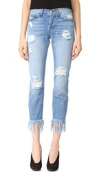 3X1 Wm3 Straight Crop Fringe Jeans Mazzy