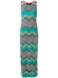 Missoni Long Zigzag Dress Green