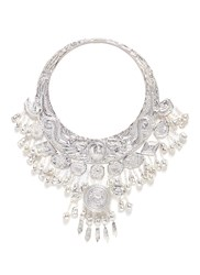 Ms Min Hammered Dragon Miao Silver Torque Necklace Metallic