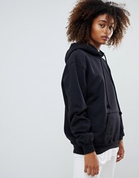 Pull And Bear Pullandbear Oversized Hoodie In Black