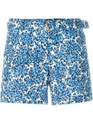 Michael Michael Kors Calico Print Shorts Blue