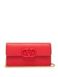 Valentino V Sling Small Leather Cross Body Bag Red