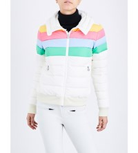 Perfect Moment Queenie Quilted Shell Jacket Snow White Rainbow