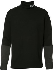 Midnight Studios Hybrid Turtleneck Sweater Black