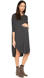 Hatch The Jersey Drape Dress Charcoal