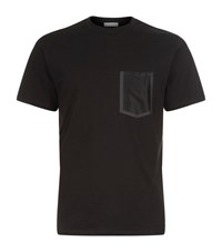 Sandro Summer Mesh Pocket T Shirt Male Black