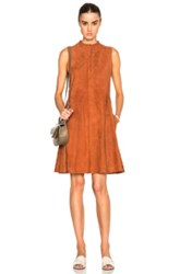 Brock Collection Suede Larissa Dress In Brown