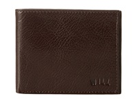 Will Leather Goods Cliff Billfold Wallet Brown Bill Fold Wallet