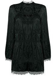 Pinko Lace Cut Out Playsuit Black