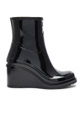 Hunter Original Refined Mid Wedge Boot Black