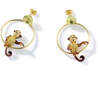 Misis Cheeky Monkey Earrings Brown