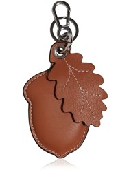 Loewe Acorn And Leaf Leather Key Chain Brown Black