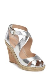 Charles By Charles David Women's Belfast Strappy Wedge Sandal Metallic Smooth Leather