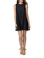 Donna Morgan Sleeveless Trapeze Dress Navy