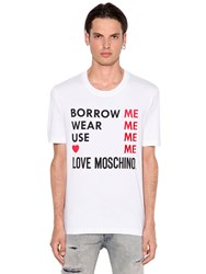 Love Moschino Me Printed Cotton Jersey T Shirt