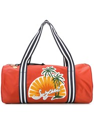 See By Chloe Embroidered Beach Bag Yellow Orange