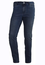 Pier One Slim Fit Jeans Blue Overdye Blue Denim
