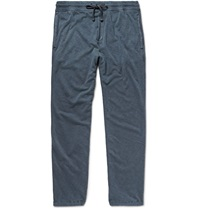 James Perse Loopback Cotton Jersey Sweatpants Blue