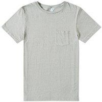 Velva Sheen Twist Pocket Tee Grey