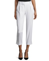 Milly Nicole Cropped Italian Cady Pants White Size 8