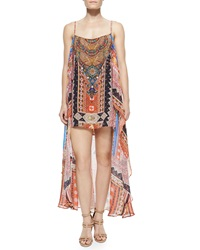 Camilla Printed Silk Convertible Maxi Dress Child Of The Trib