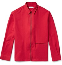 Several Monza Textured Stretch Cotton Jacket Red