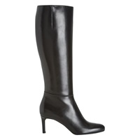 Hobbs Lizzie Leather Long Boot Black Leather