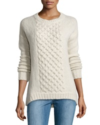 Christopher Fischer Chain Knit Paneled Sweater Poodle