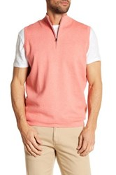 Peter Millar Shelby Quarter Zip Vest Orange