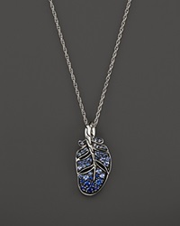 John Hardy Classic Chain Silver Lava Feather Pendant Necklace With Mixed Blue Sapphire 16 Bloomingdale's Exclusive Silver Blue