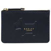 Radley Shadow Leather Small Zip Top Coin Purse Ink Blue