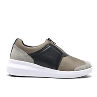 Dkny Women's Taylor Zip On Trainers Dark Clay Grey