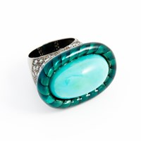 Lanna Majestic Oval Turquoise Ring 9441